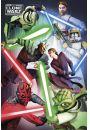 Clone Wars Wojny Klonów Dobro kontra Zło - plakat - Seriale