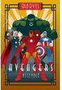 Marvel Avengers Grupa Art Deco - plakat - Animowane