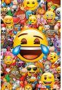 Smiley Emoji Kolaż Emocji - plakat