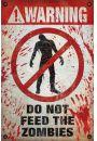 Uwaga! Nie Karmić Zombie - plakat