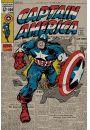 Kapitan Ameryka - retro plakat - Fantastyczne