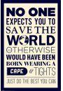 Save The World - plakat motywacyjny - Plakaty. Motywacyjne