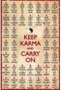Keep Karma and Carry On - Zen - plakat - Plakaty. Motywacyjne