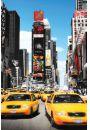 Nowy Jork Żółte Taksówki na Times Square - plakat