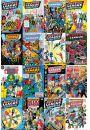 DC Comics Liga Sprawiedliwych Okładki Komiksów - plakat - Animowane