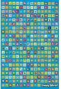 Smiley Face Ikonki - plakat - Plakaty. Dziecięce