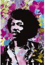 Jimi Hendrix colours - plakat - Hendrix