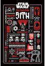 Star Wars Gwiezdne Wojny - Ciemna Strona Infografika - plakat - Kultowe