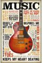 Muzyka jest Pasją - plakat motywacyjny - Grunge