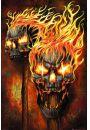 Płonące Czaszki - plakat