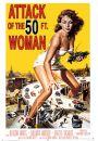 Attack of the 50ft woman - retro plakat - Plakaty z kobietami