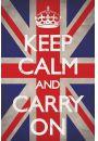 Keep Calm And Carry On Wielka Brytania - plakat - Plakaty. Motywacyjne