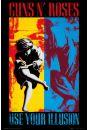 Guns N' Roses Use Your Illusion - plakat - Guns AND Roses