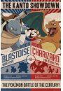Pokemon Go Charizard kontra Blastoise - plakat - Gry