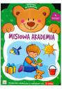 Misiowa Akademia zeszyt 4 Książeczka edukacyjna z naklejkami dla 3-latka