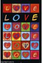 Miłosne Serca - Love Hearts - plakat - Kultura świata