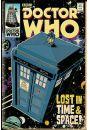 Doctor Who Tardis Komiksowa Wersja - plakat - Seriale