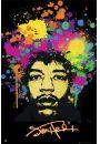 Jimi Hendrix Splatters - plakat - Hendrix