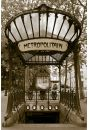 Paryż - Stacja Metra Abbesses - plakat - Architektura