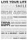 Żyj Własnym Życiem - Live Your Life - plakat motywacyjny - Plakaty. Motywacyjne